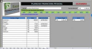 Planilha de gastos pessoais em Excel grátis