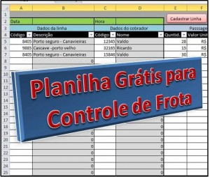 Planilha Controle de Frota Grátis em Excel