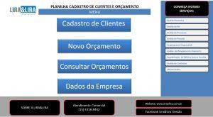 Planilha De Cadastro de Clientes e Orçamento