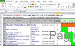 Planilha grátis gestão de projetos